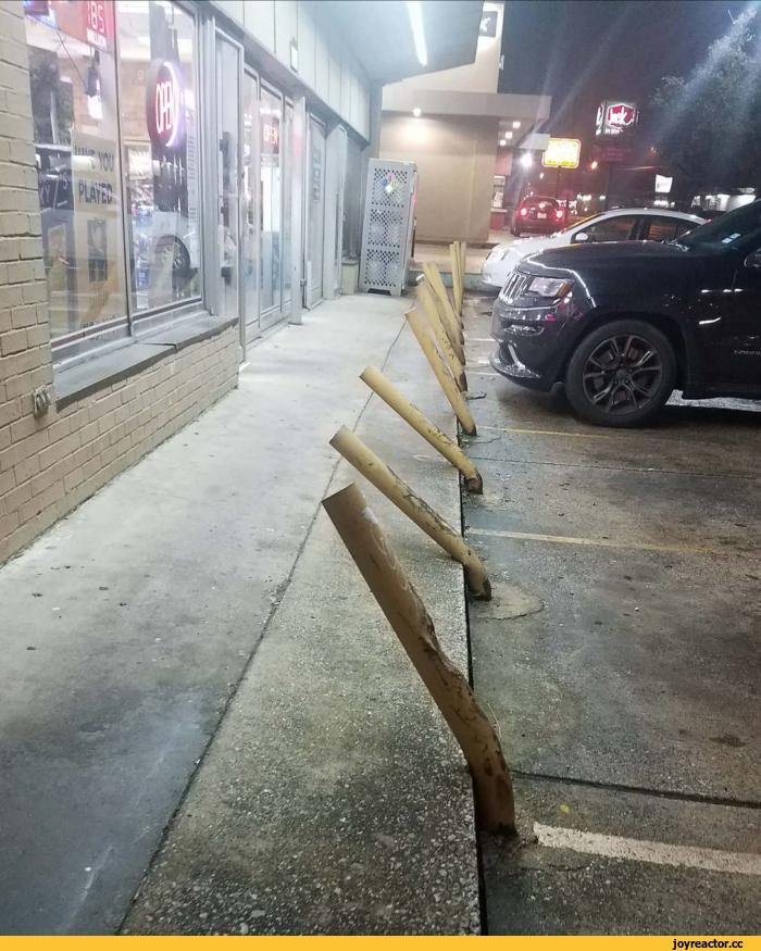 Парковка у магазина, торгующего алкоголем