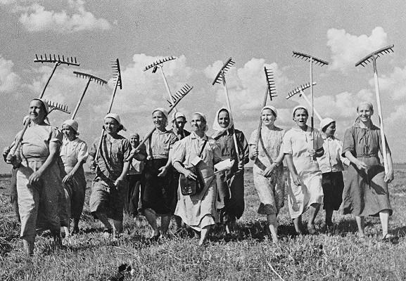 Советские колхозники без пенсий