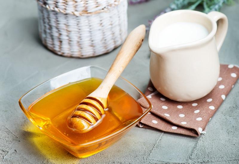 молоко с мёдом на ночь