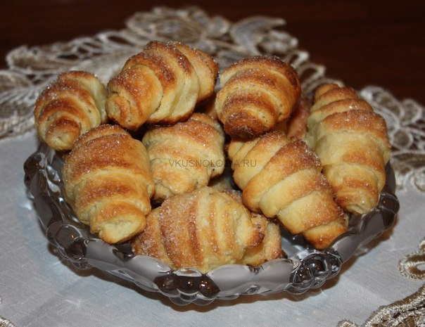 Творожные рогалики с сахаром — бабуля научила