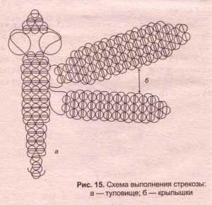 Стрекозы из бисера бисер,украшения