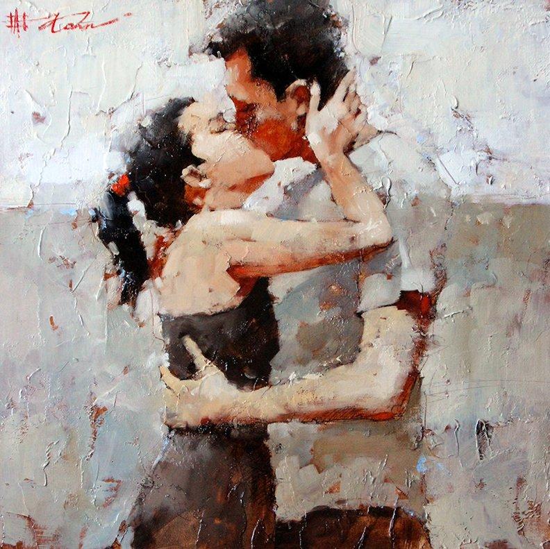 Чувственность, романтизм и страсть в работах художника Андре Кона