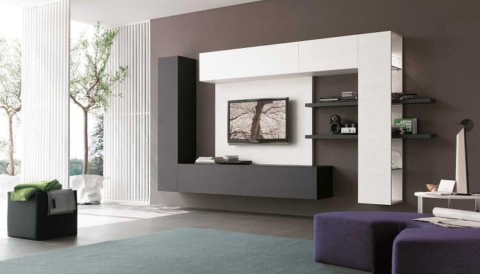 Современная мебельная стенка сделает комнату стильной и комфортной.