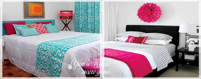 Необычный декор кровати: декоративные дорожки своими руками