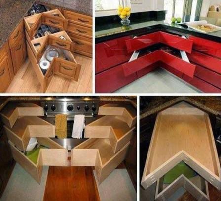 Идеи для кухонного хранения - 51 решение