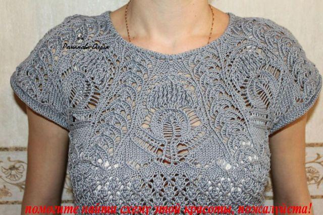 Схему вязания блузки.....