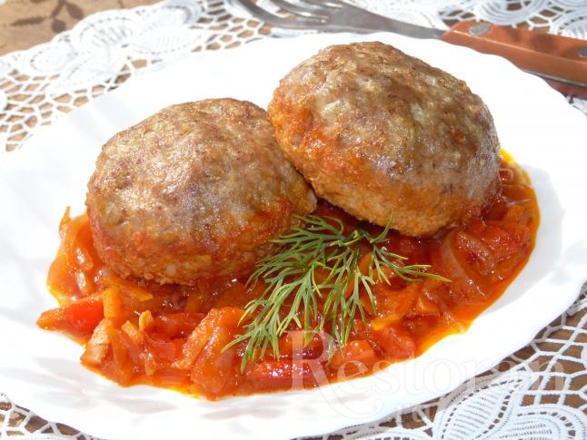 Гречаники с овощным соусом - очень сочные, вкусные и полезные!