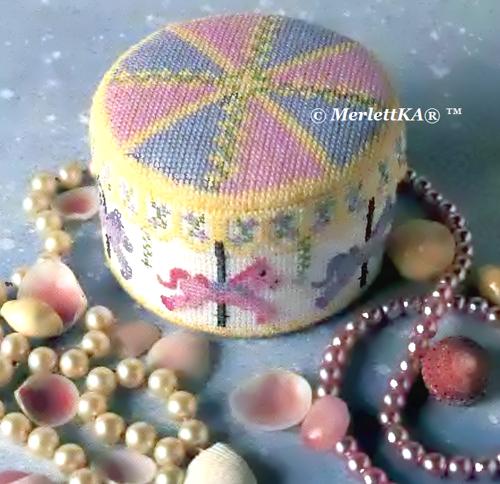 Вышивка крестом по объёмным изделиям - шкатулка для украшений