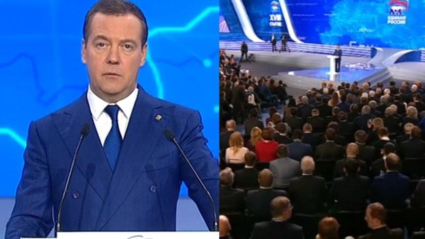 «Единая Россия» гордится вкладом в победу Путина на выборах президента — Медведев