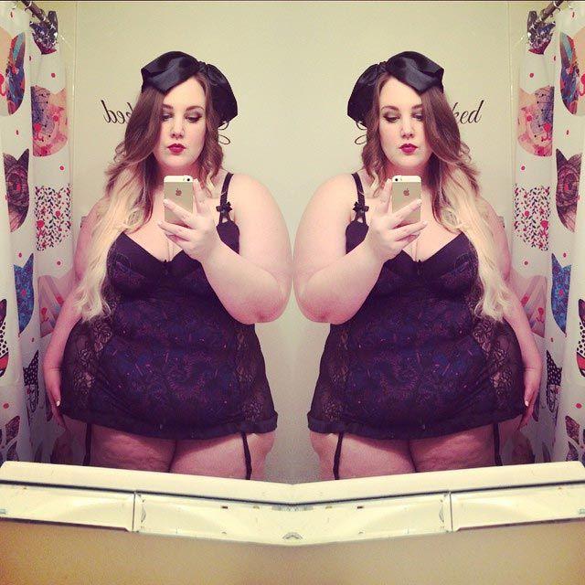 Кортни Мина, Courtney Mina, блоггер размера плюс, толстая женщина