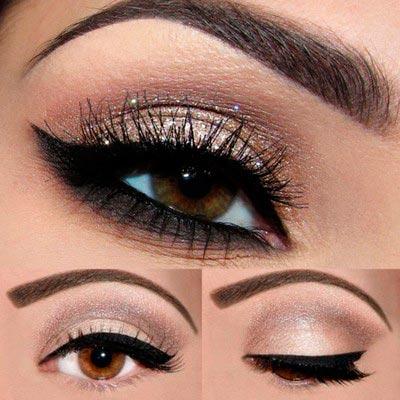 Правильный макияж для карих глаз