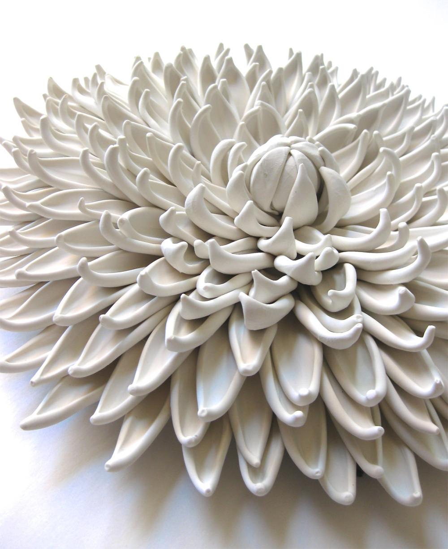 Изящные цветочные композиции из полимерной глины от  Анжелы Швер полимерная глина