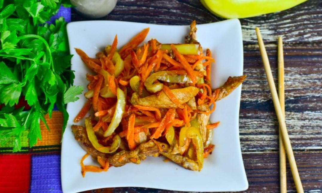 Салат с курицей по-китайски кухни мира,салаты