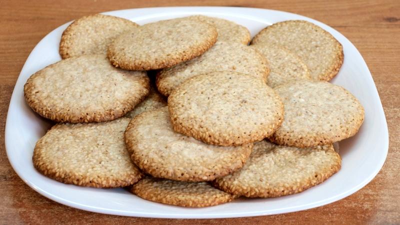 Кунжутное печенье - видео рецепт