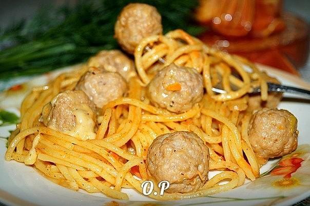 Вкуснейшие спагетти с фрикад…