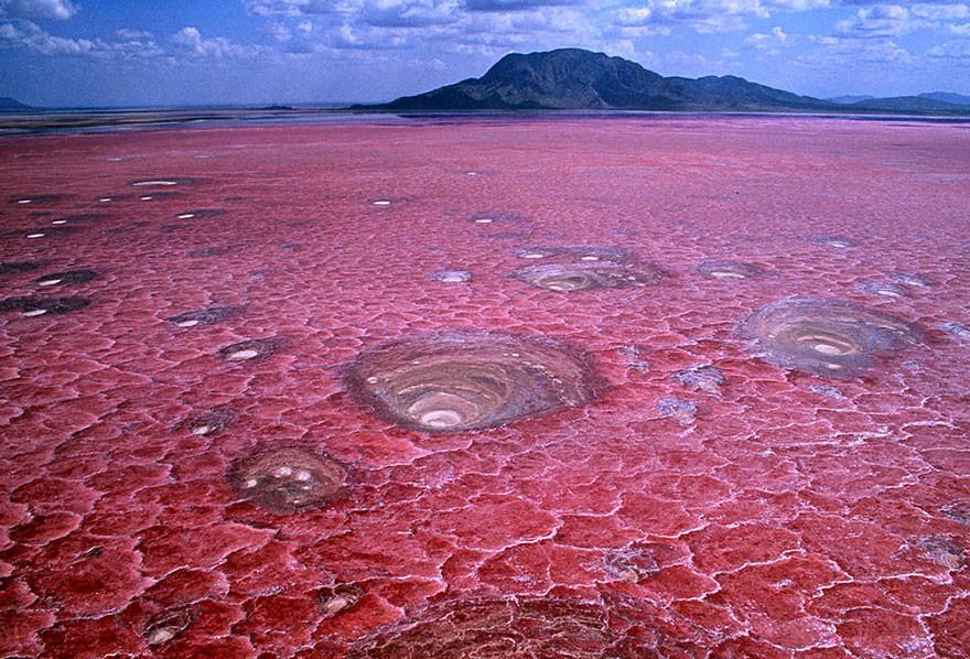 28. Озеро Натрон, Танзания земля, красота, планета, природа