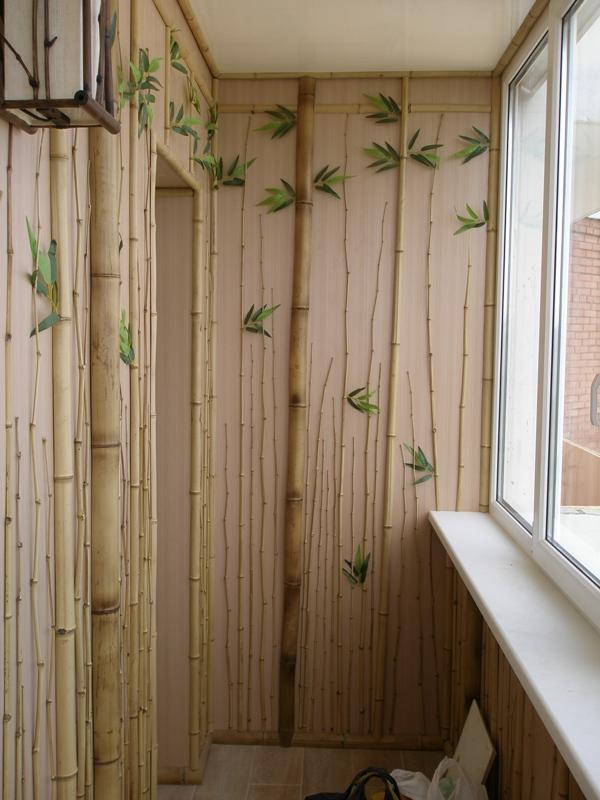 Отделка квартир декоративным бамбуком фото