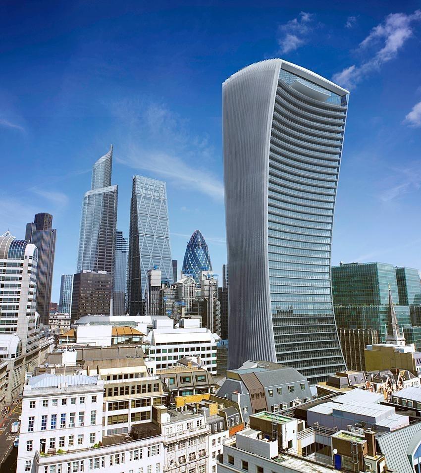 Лондонский небоскрёб, способный расплавить машину