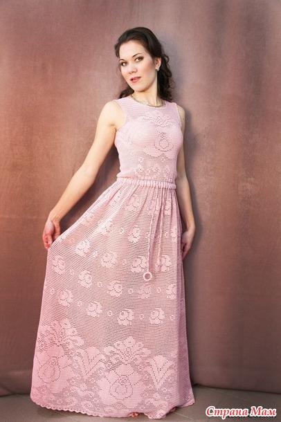 Платье Нежная роза