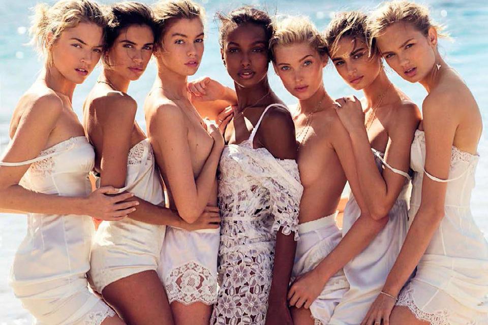 Ангелы Victoria's Secret разделись для испанского Vogue девушки