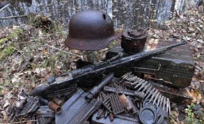 Пушка с немецких позиций: черные копатели распечатали старый бункер