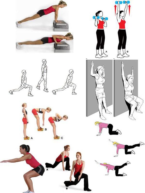 Картинки как похудеть упражнения