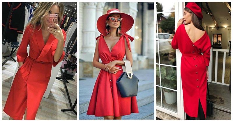 Такое разное красное платье:…