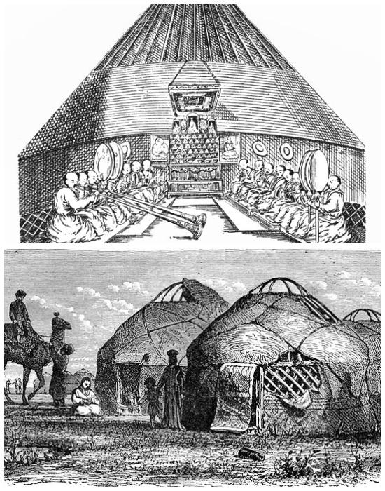 Издревле калмыцкий народ жил в юртах.