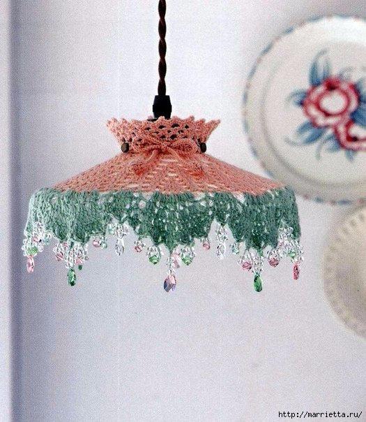 красивый абажур для кухонного плафона схема
