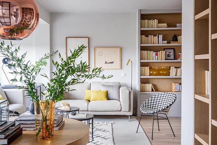 Натуральные материалы и запах весны: светлая квартира в Мадриде