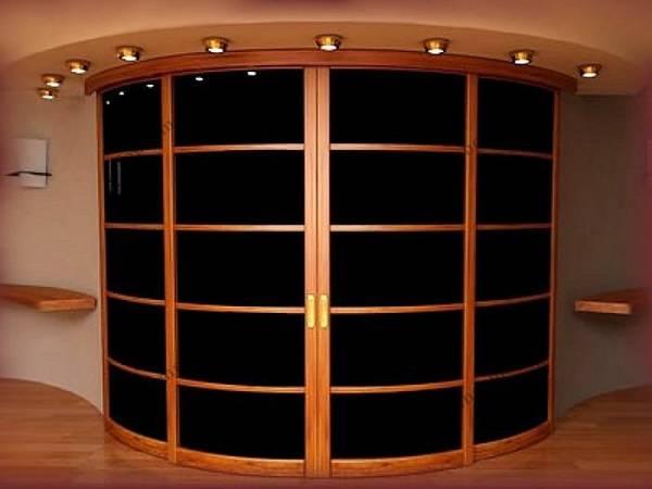 радиусные раздвижные двери для гардеробной, фото 24