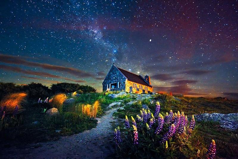 6. Озеро Текапо. Новая Зеландия.