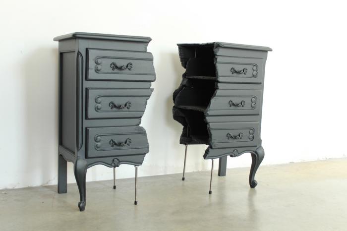 """Оригинальный дизайн: """"сломанная"""" мебель от Lennart Van Uffelen"""