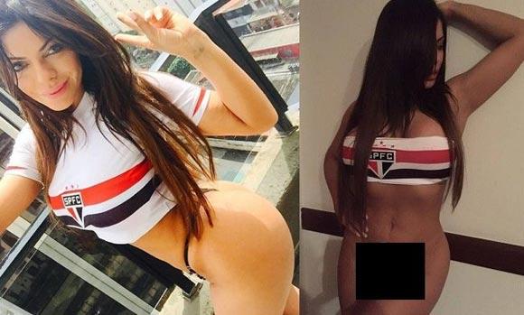 Бразильская модель отпраздновала победу любимого футбольного клуба эротическим фото