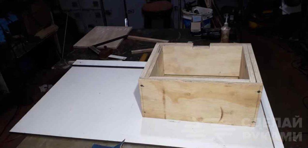 Станок из УШМ для изготовления деревянных ложек короб, крепим, часть, площадку, велосипеда, прикручиваем, фанеры, станок, этапе, изготовления, можно, самодельный, после, автор, деревянных, листу, ложек, Устанавливаем, последнем, останется