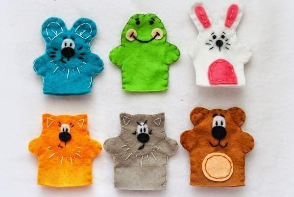 Пальчиковые игрушки из фетра…