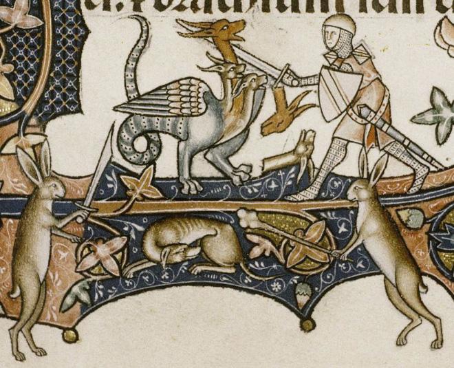 20 кроликов-убийц из средневековых книг: почему именно этих зверьков рисовали такими злобными кролики, средневековых, именно, Ветхого, собаки, читателя, символизируют, Завета, людей, монахам, возможно, присутствует, просто, казалось, политическая, может, подтекст, социальный, забавным, какойто