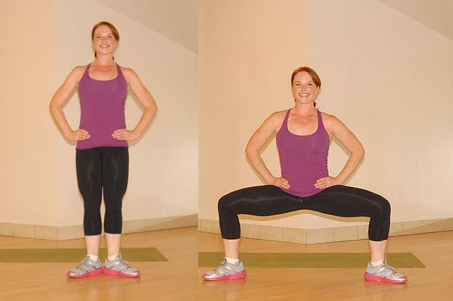 Упражнения для похудения колен и ляшек