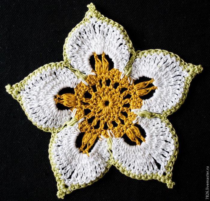 Цветок-таслисман -мастер-класс по вязанию крючком
