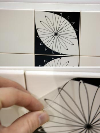 Один из самых простых способов — виниловые наклейки