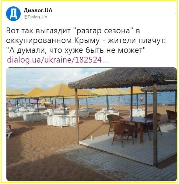 Дано не было про пустые пляжи Крыма