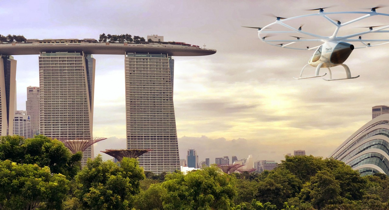 В Сингапуре будут тестировать летающие такси