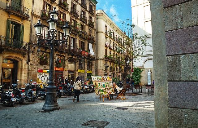 Старинный район Барселоны - квартал Борн.