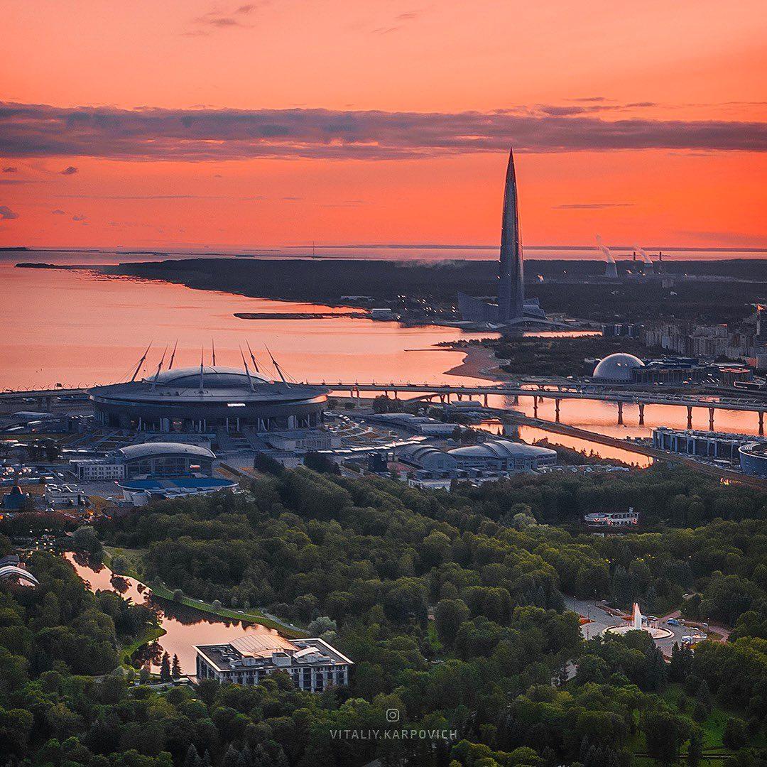 Впечатляющие городские пейзажи Виталия Карповича города,с высоты птичьего полета,тревел-фото