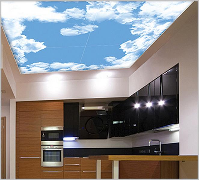 итоге натяжные потолки на кухне с облаками фото требований
