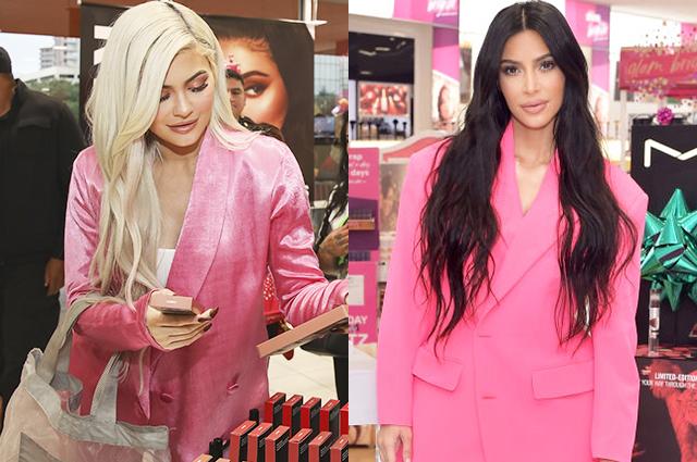 Ким Кардашьян повторила гламурный образ младшей сестры Кайли Дженнер