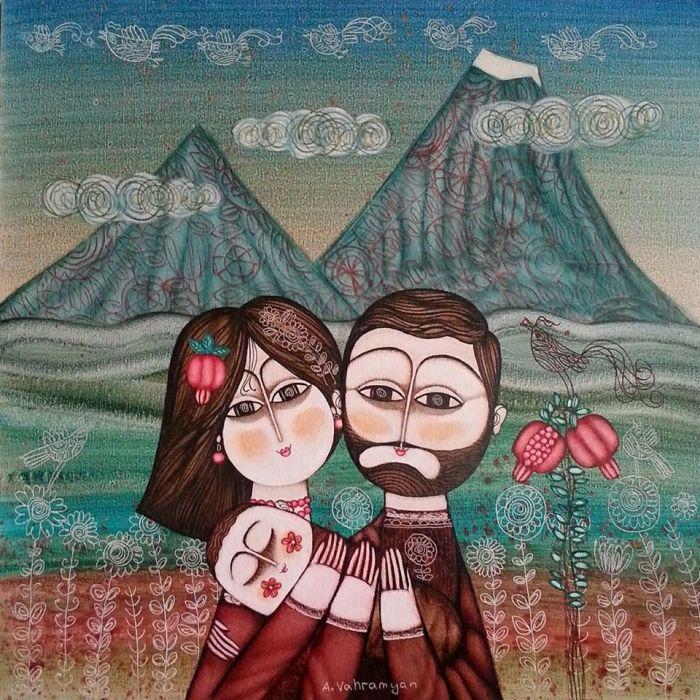 Армян открытка