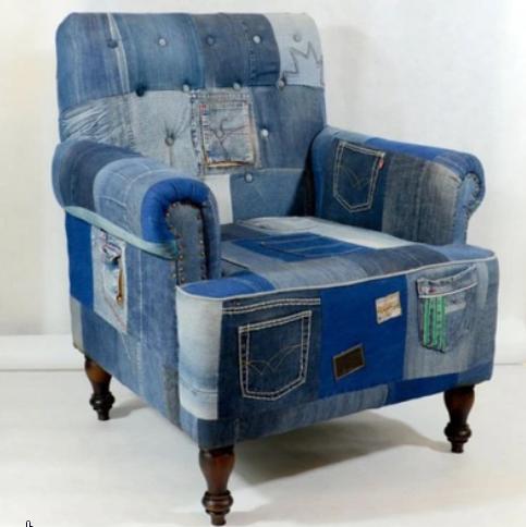 Джинсовые стулья и кресла