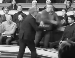 Ведущий НТВ и украинский политолог подрались на съемках передачи