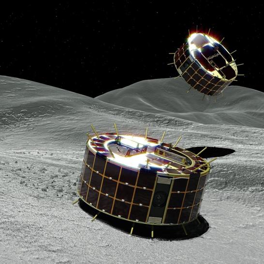 Японская АМС «Хаябуса-2» выпустила на поверхность астероида (162173) Рюгу первые посадочные зонды